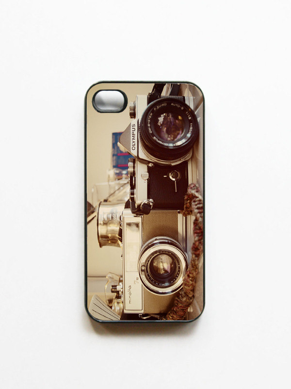 Iphone Case Vintage Camera Photo Black Or White 4 And 4s Accessory Retro Cameras Gifts For Him Geekery